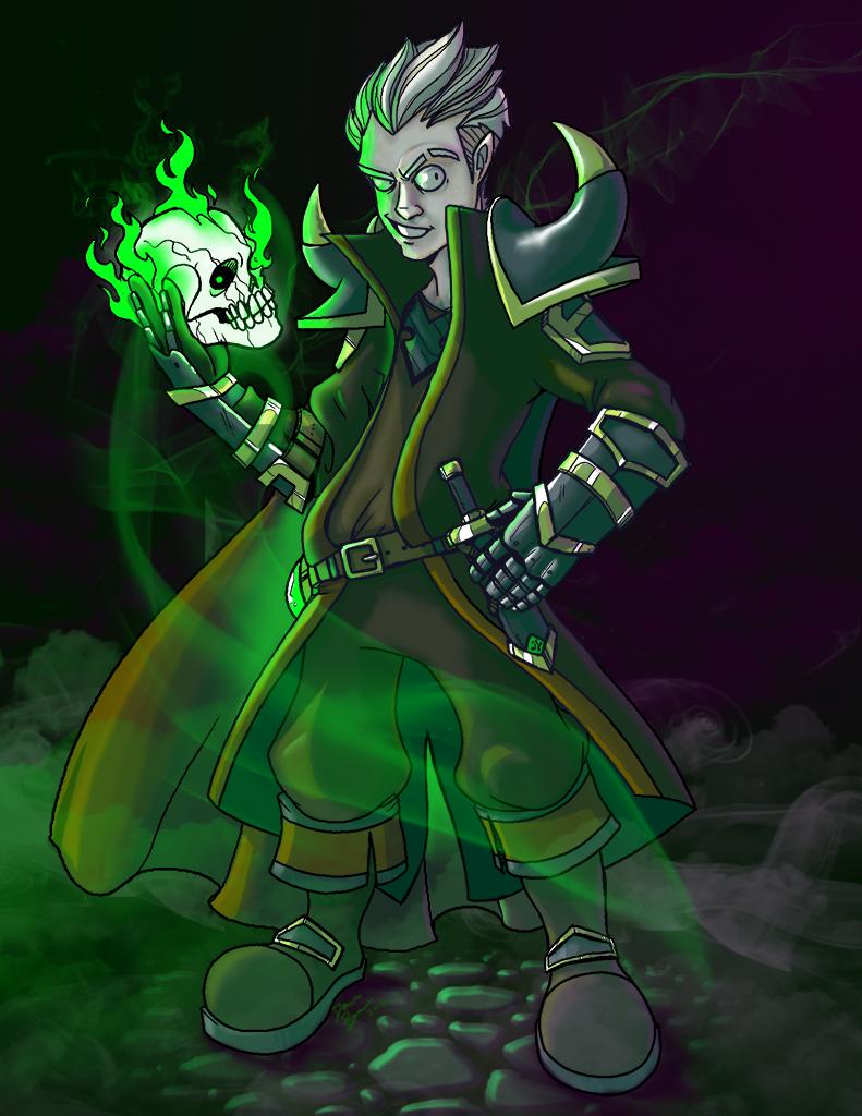 Darga Langheart, Necromancer