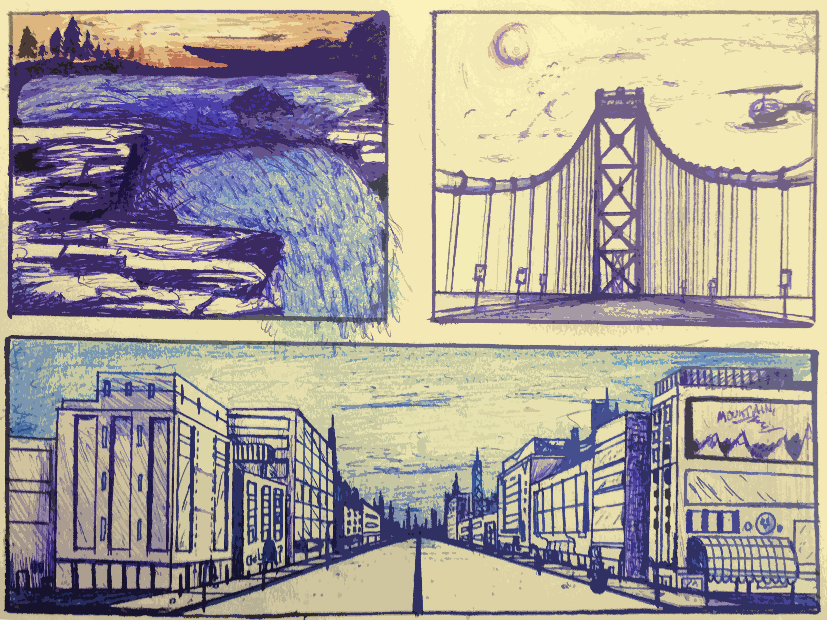 Scenery Ink Sketches