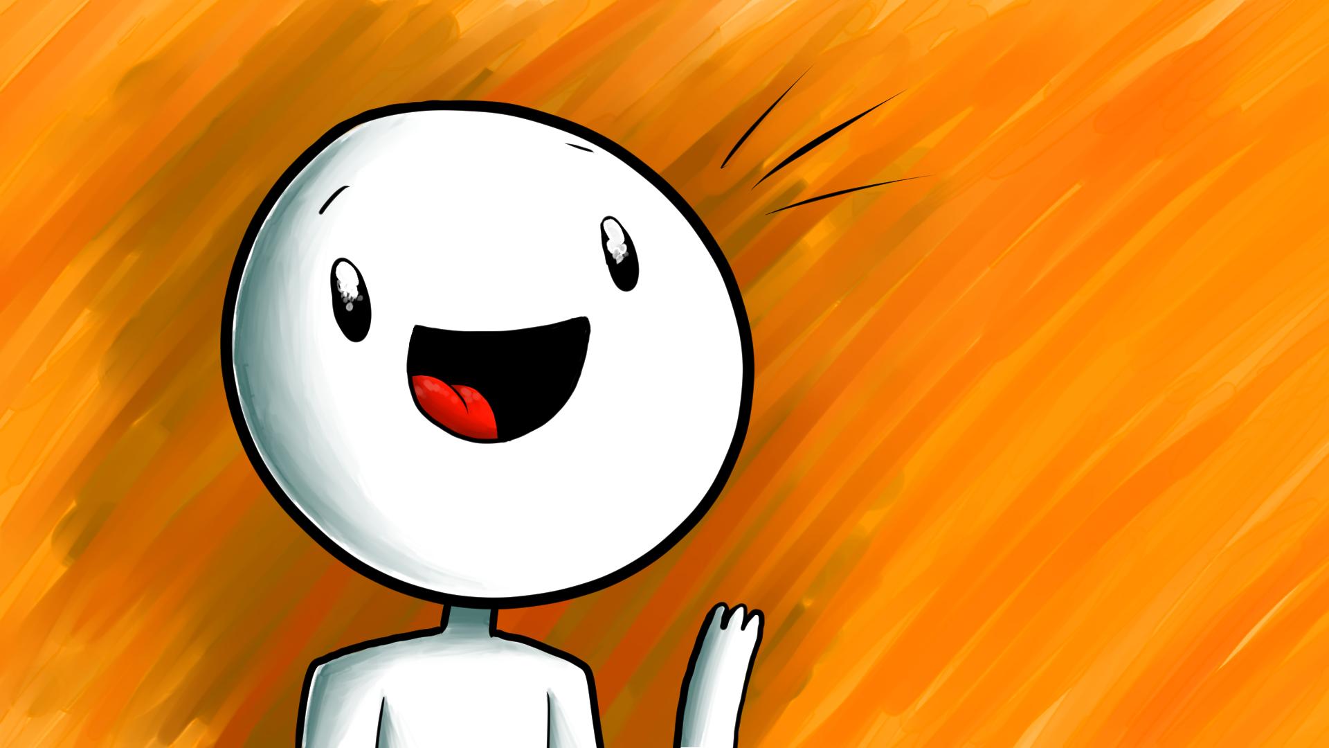 a blank guy waving