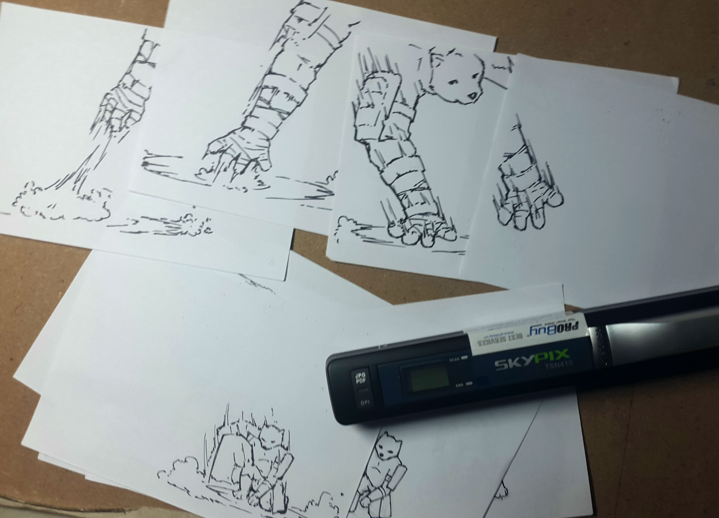 Traditional artists created animation!