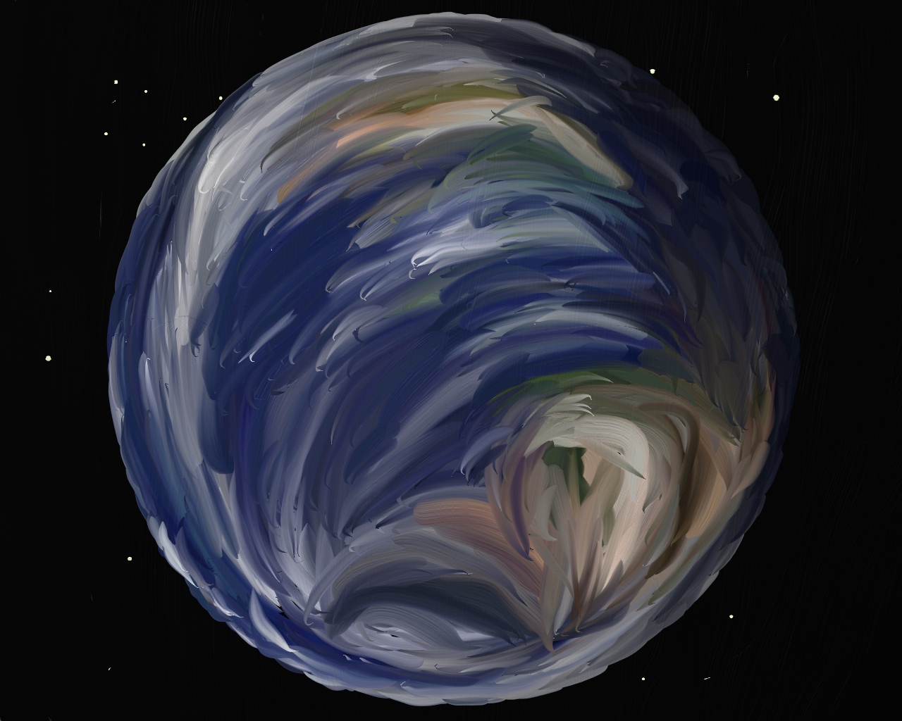 Earth, an oil painting
