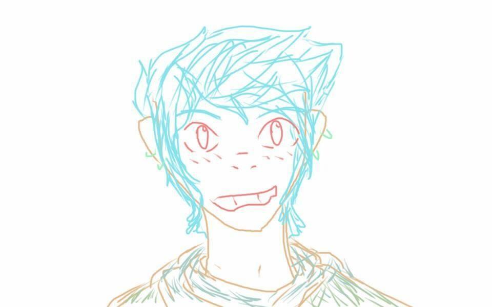 Random blue haired boy