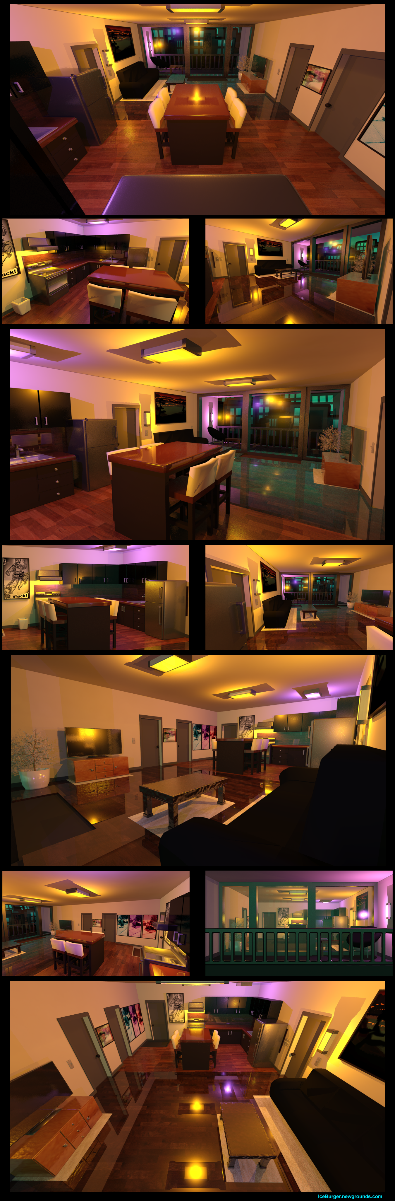 3D apartment design