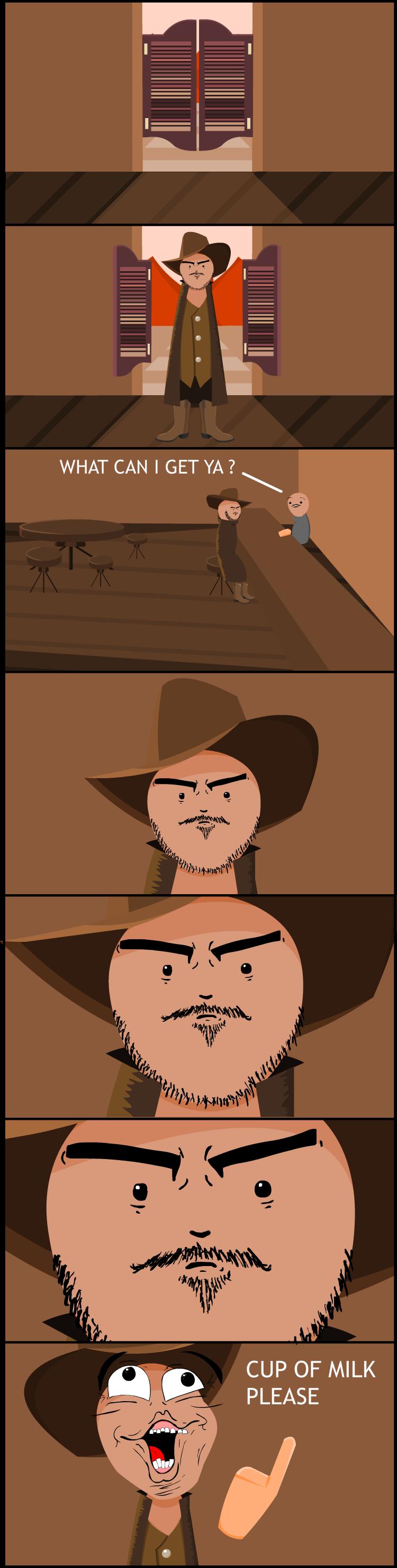Cowboy in the bar