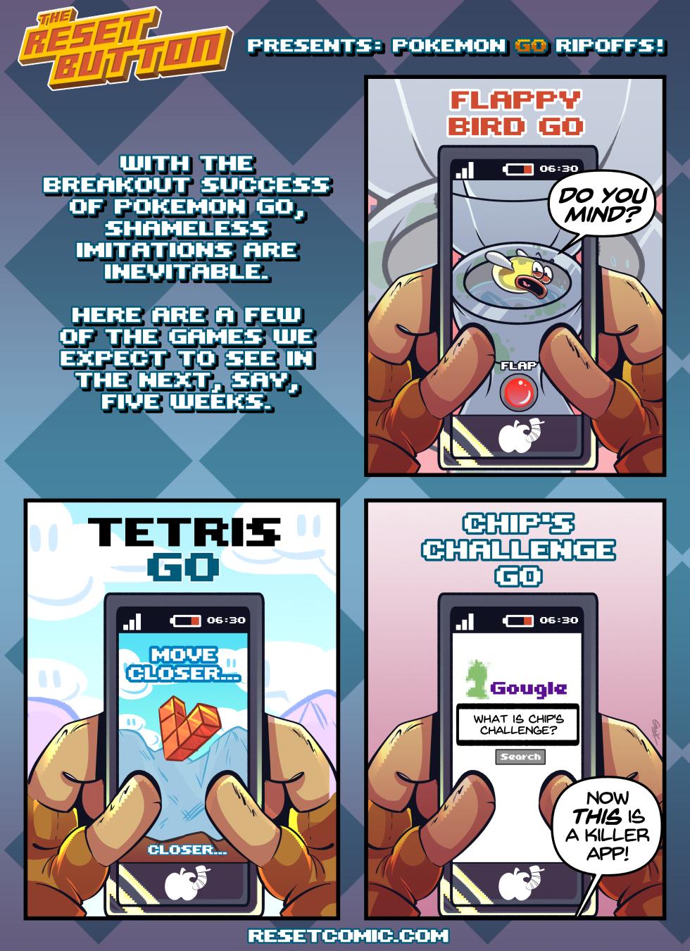 The Reset Button Presents: Pokemon Go Ripoffs