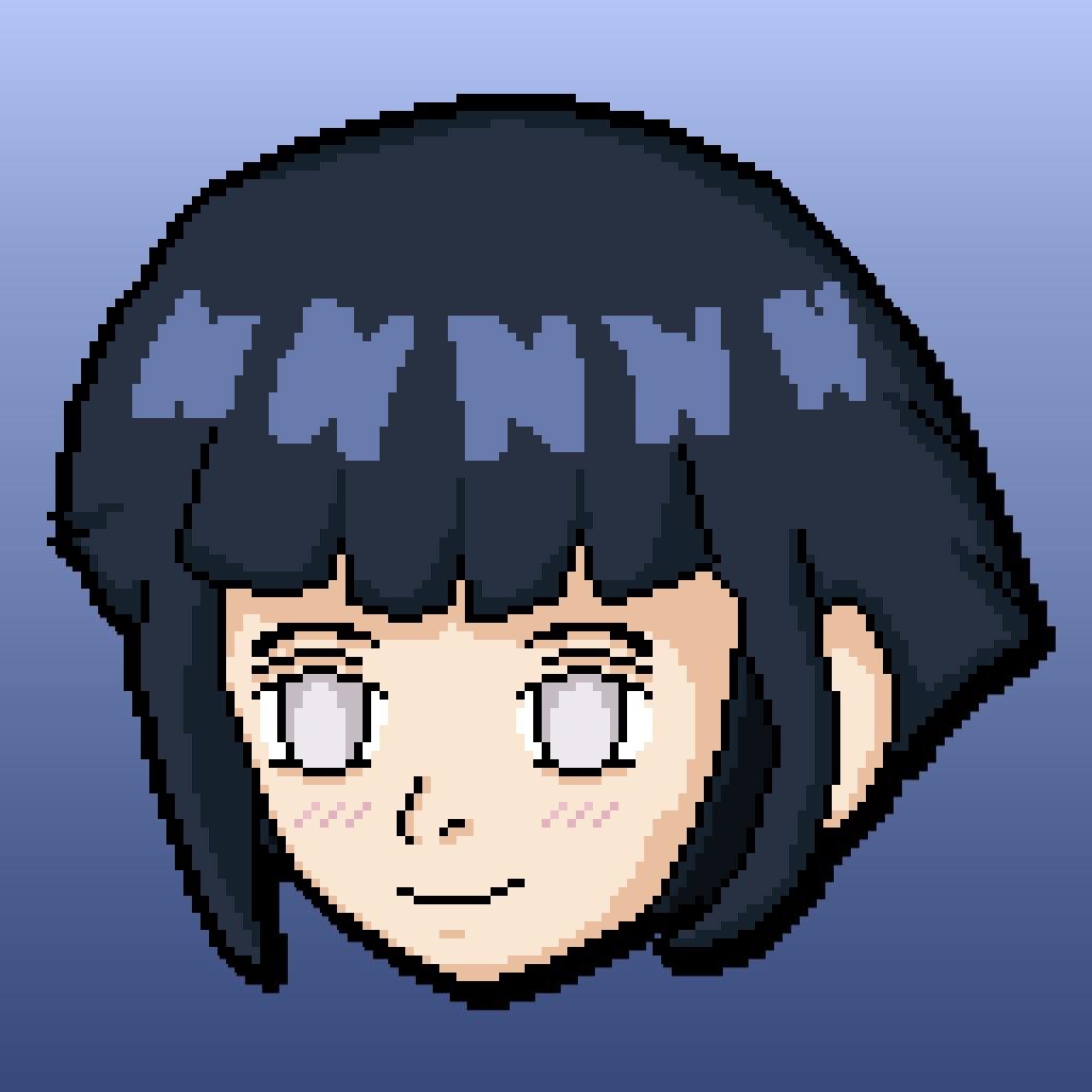 Hinata Hyuga [Pixel Art] - 2/11/16