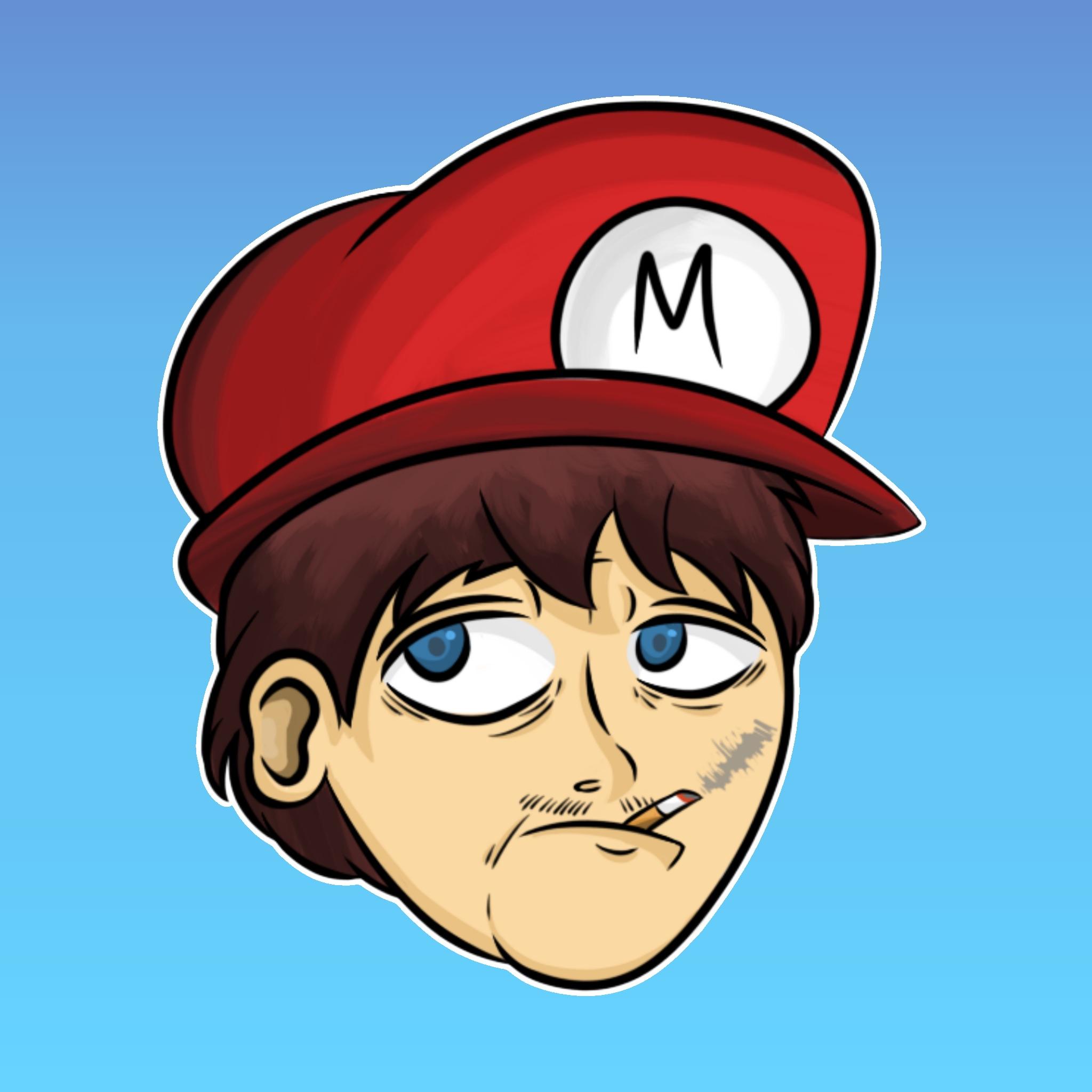 Thug Mario [Drawing] - 2/14/16