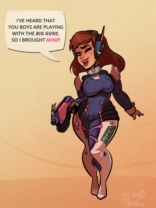 Thick D.Va Overwatch - Cartoon PinUp