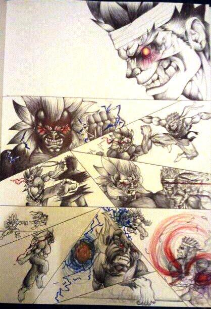 Evil Ryu vs Oni