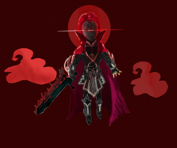 Howling Red Moon