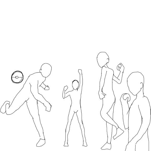 throws and stuff, pose traces
