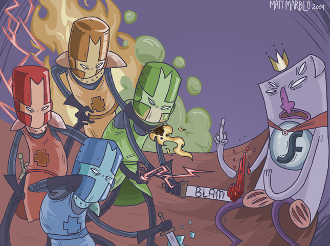 Castle Crashers King Badflash