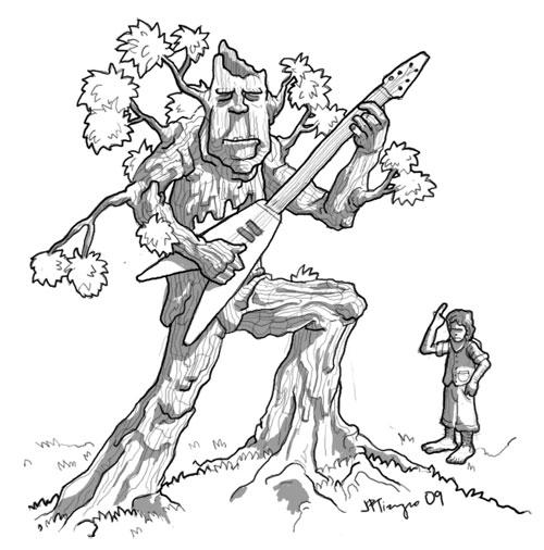 treant learns the guitar