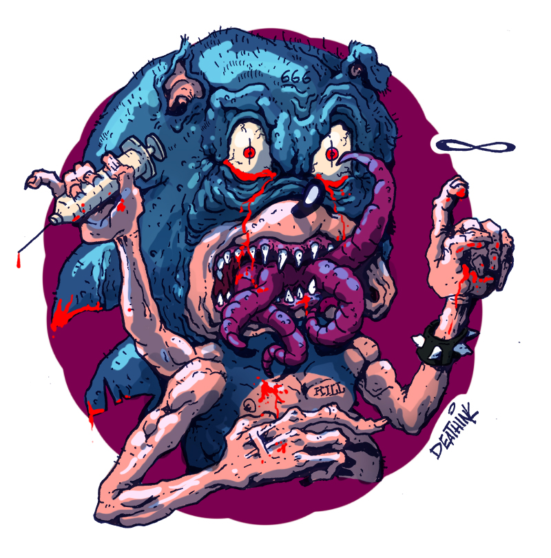 Satanic the hedgehog!