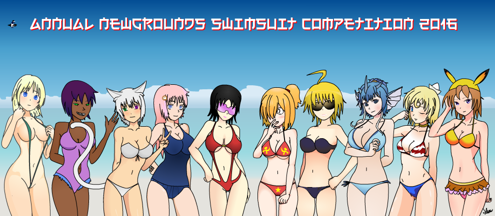 Newgrounds Annual Swimsuit Competition 2016 Group Pic