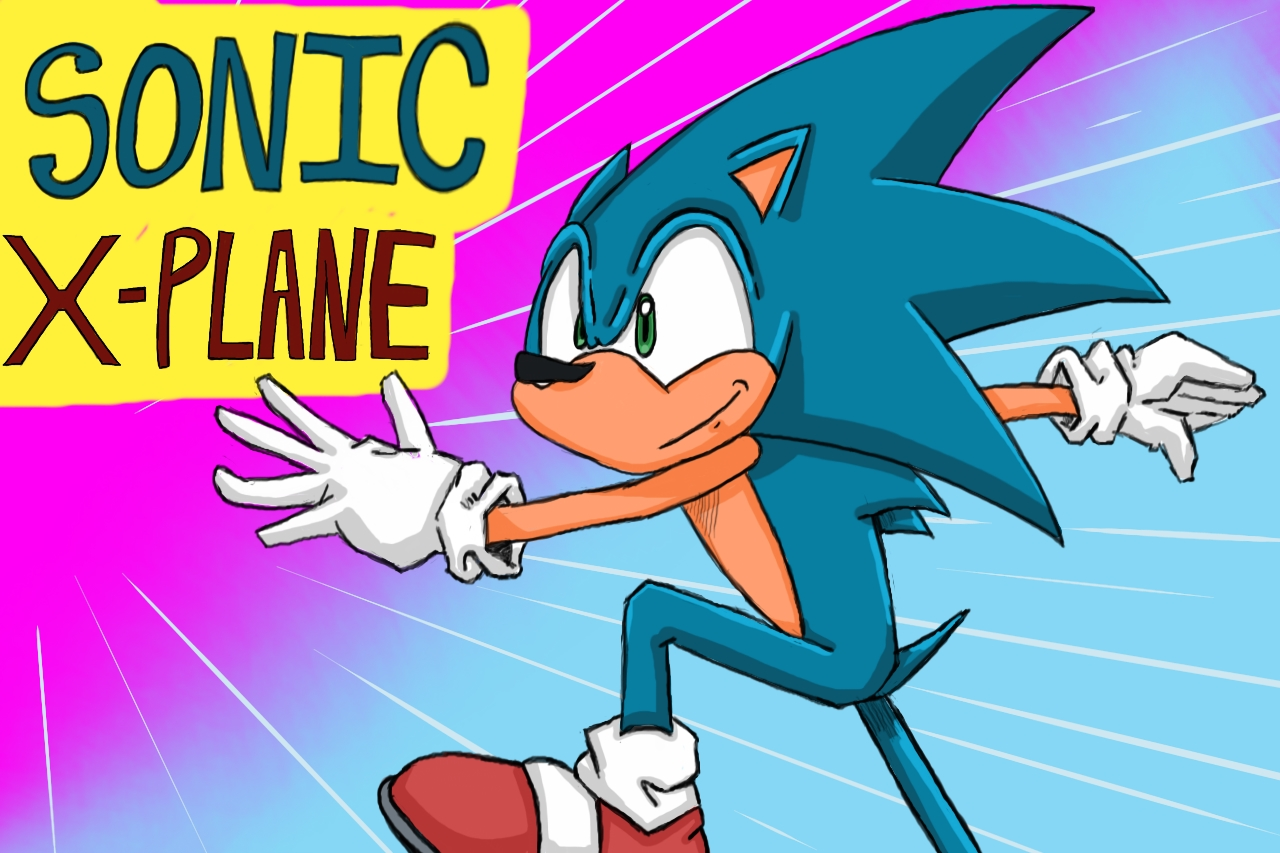 Sonic x-plane title card