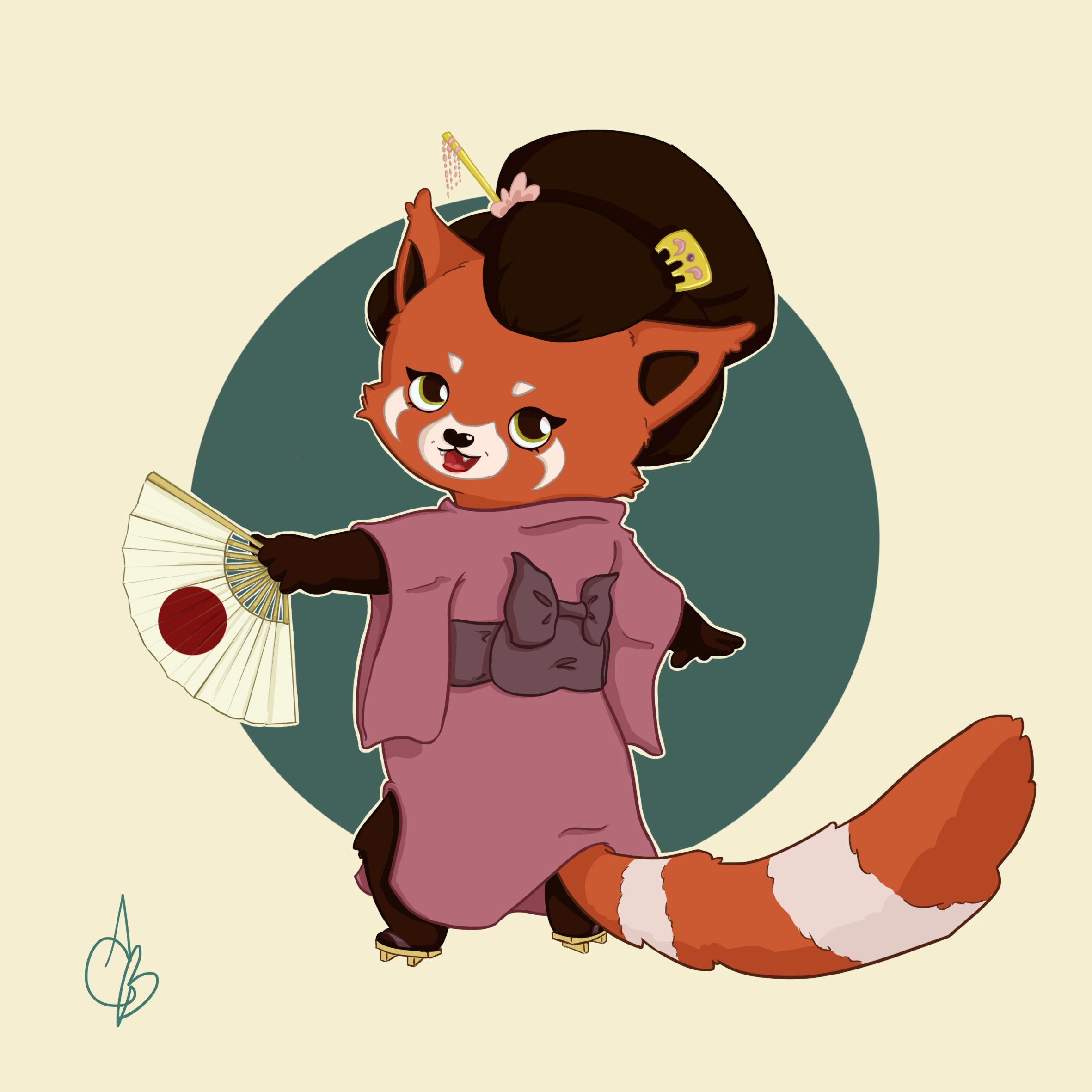 Red Panda Geisha