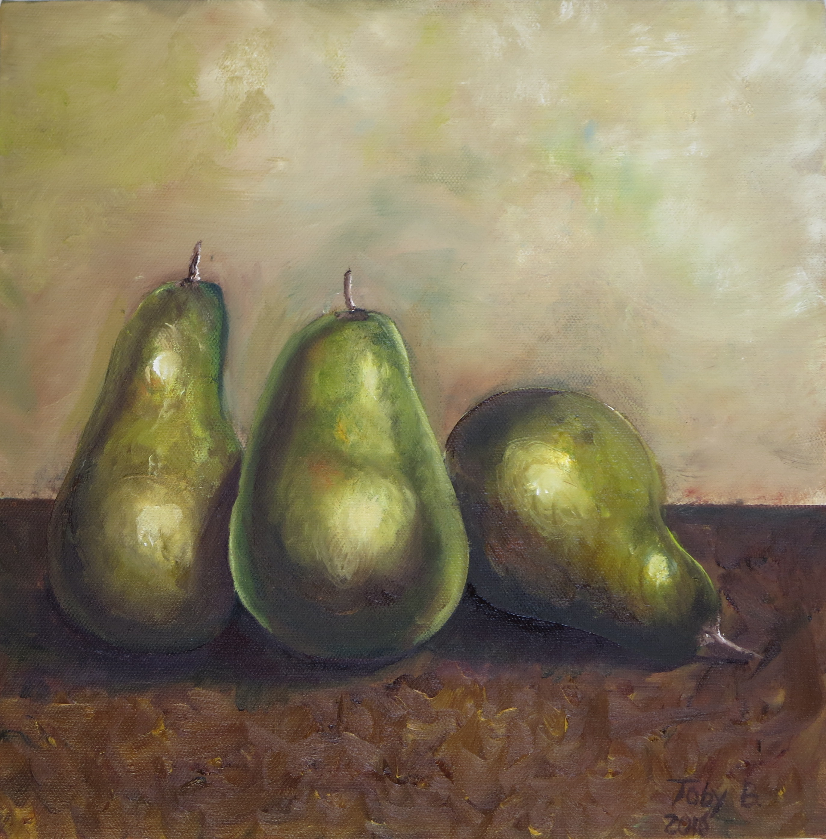 Oil Painting of Pears