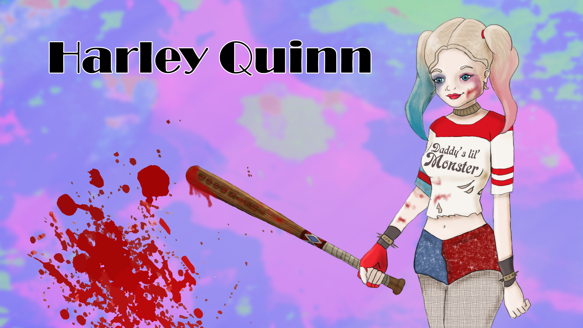 Harley Quinn saying Goodnight