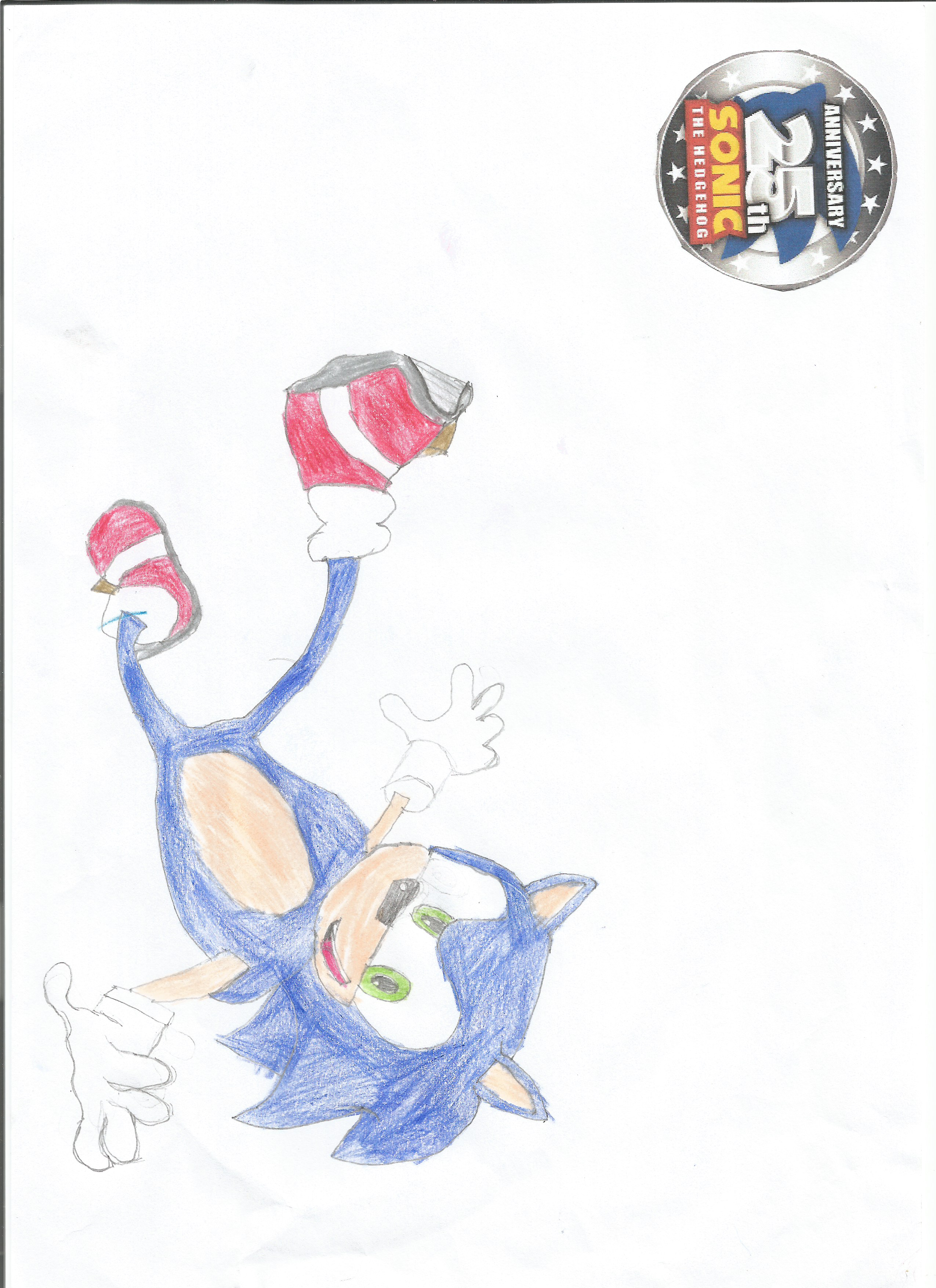 Sonic 25th anniversary Drawing