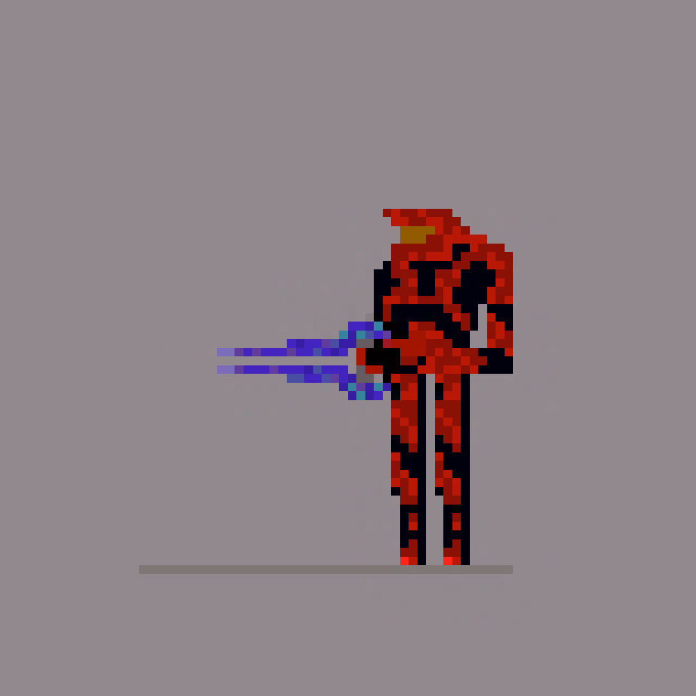Pixel Art: Red Halo Spartan