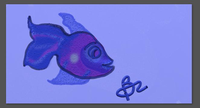 Fish drawn with wacom tablet