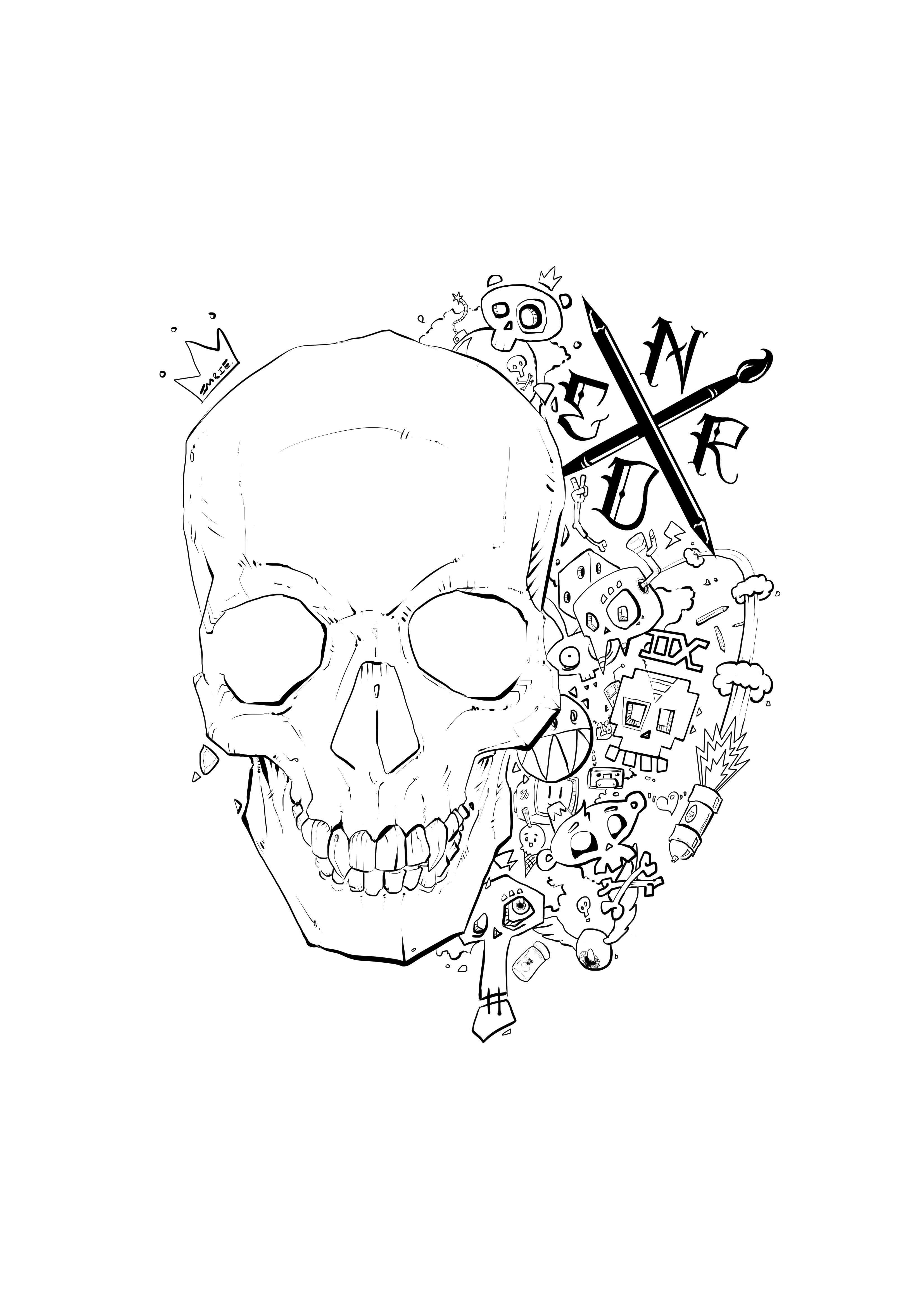 Skull Art Nerd