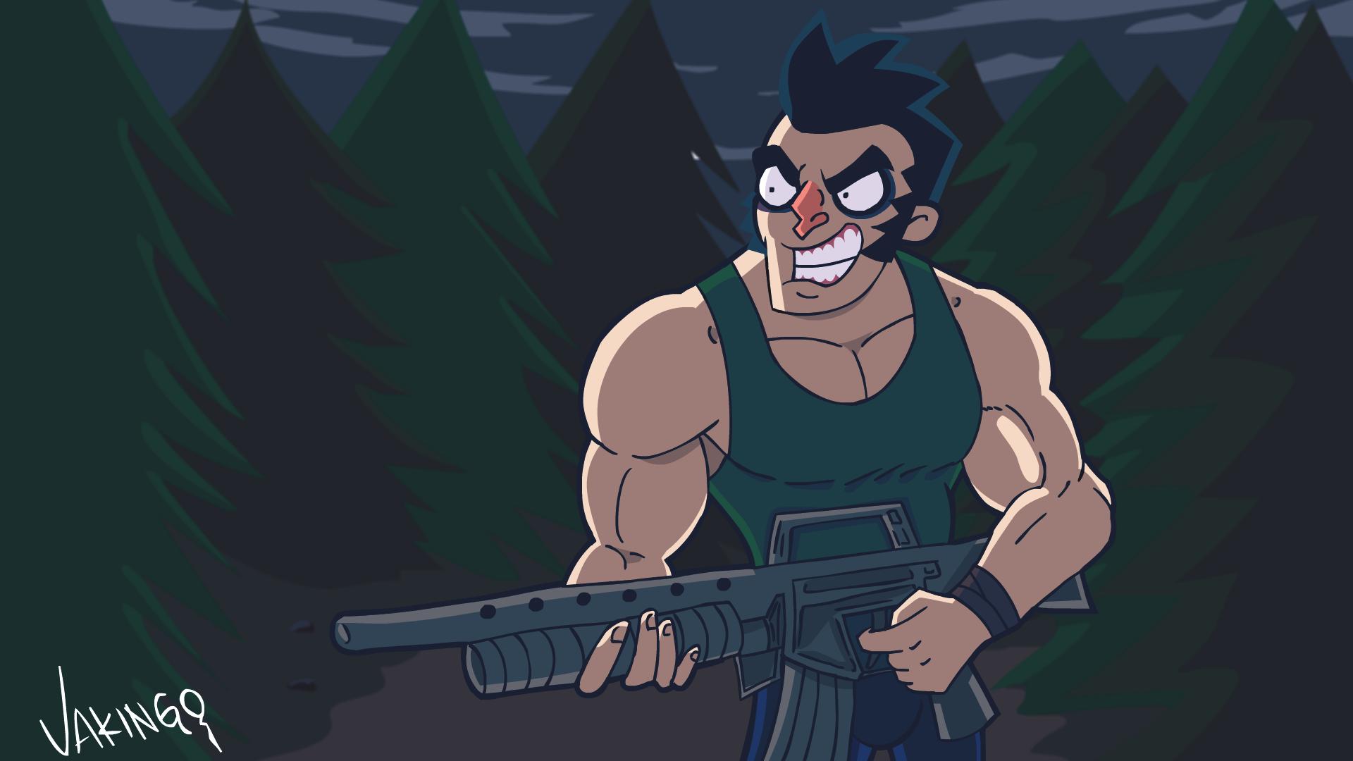 Larry goes hunting FANART