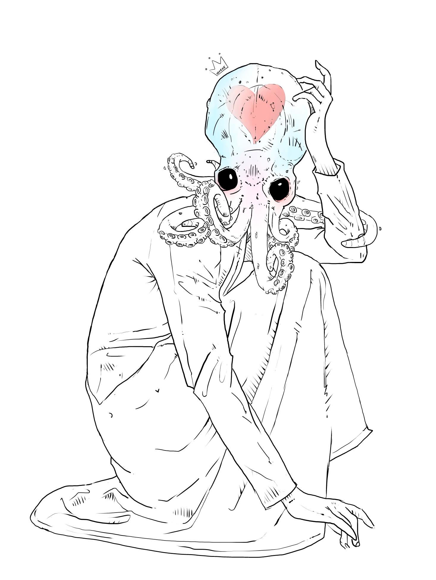 Everyone needs love (even creepy squid women)