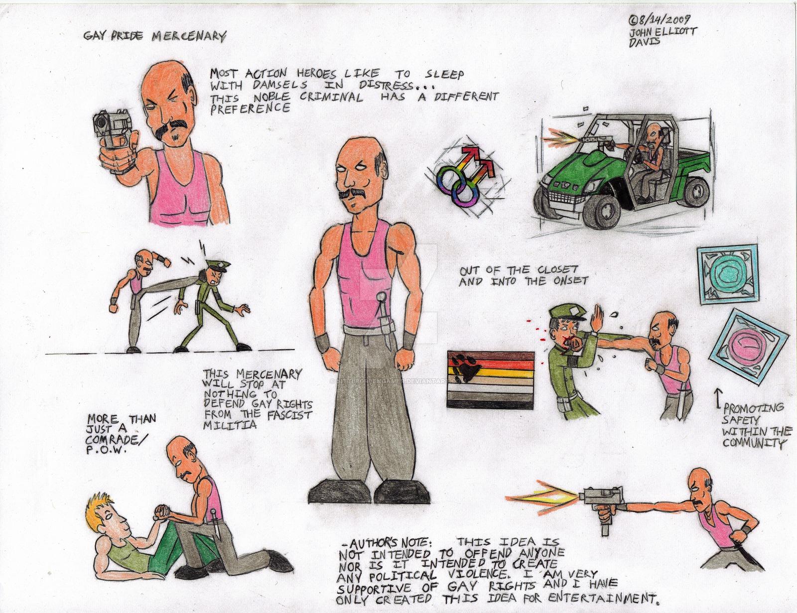 Gay Pride Mercenary Concept - 2009