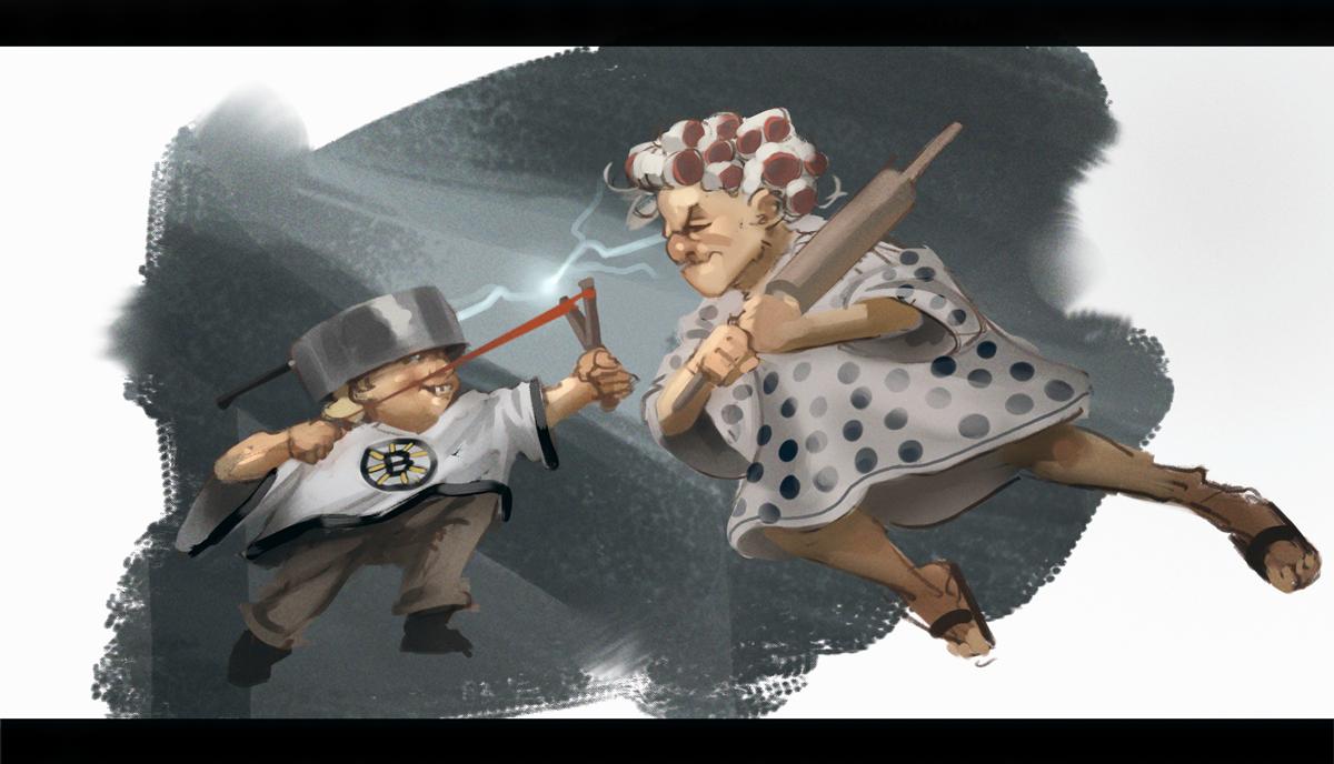 Little hero vs Granny