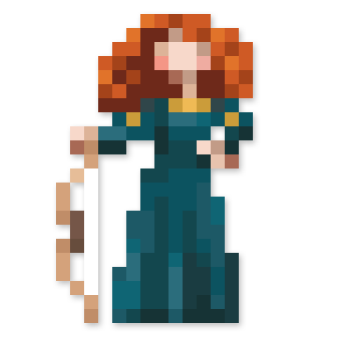 Day #134 - Princess Merida of DunBroch