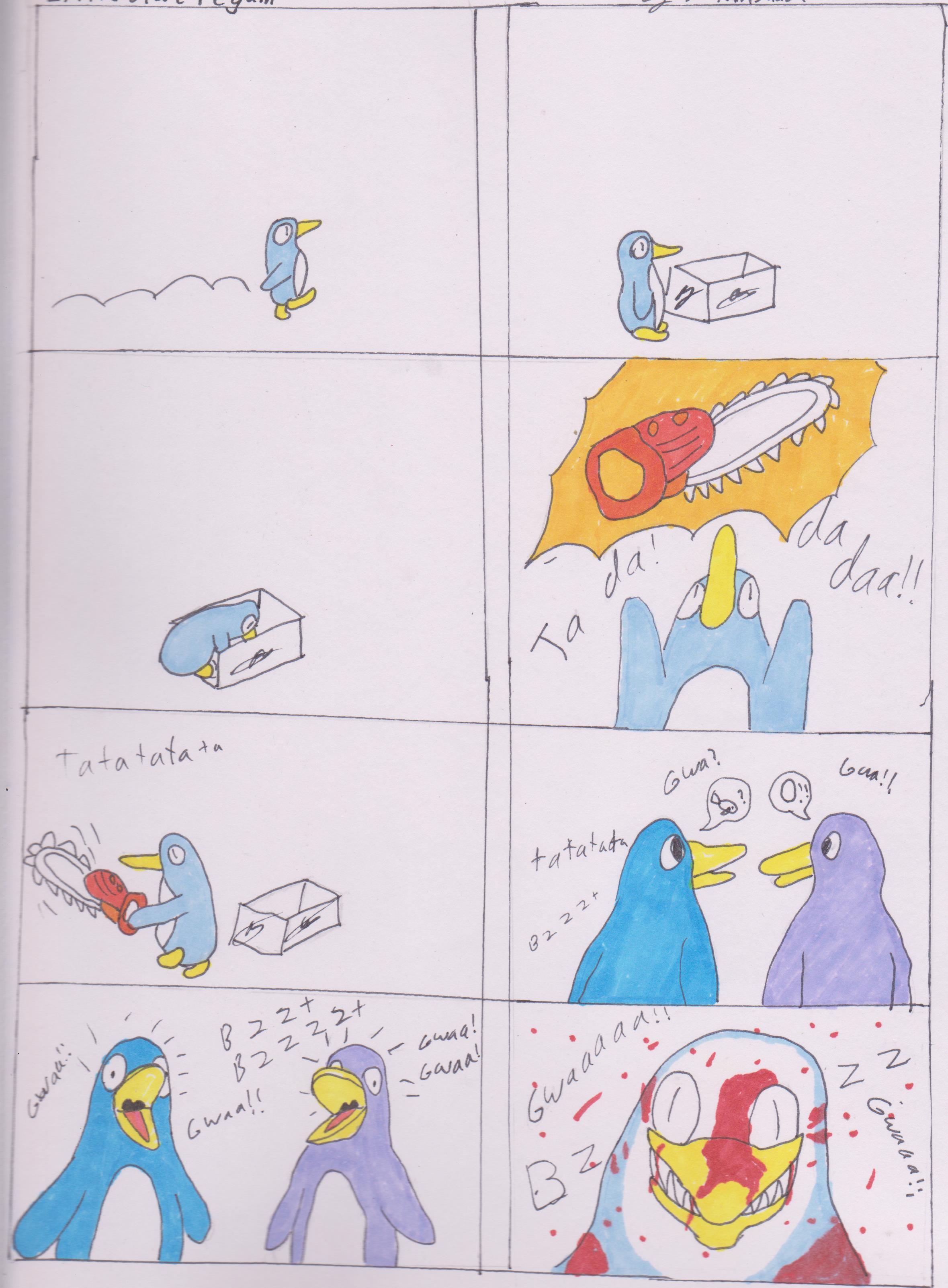 Lil blue penguin