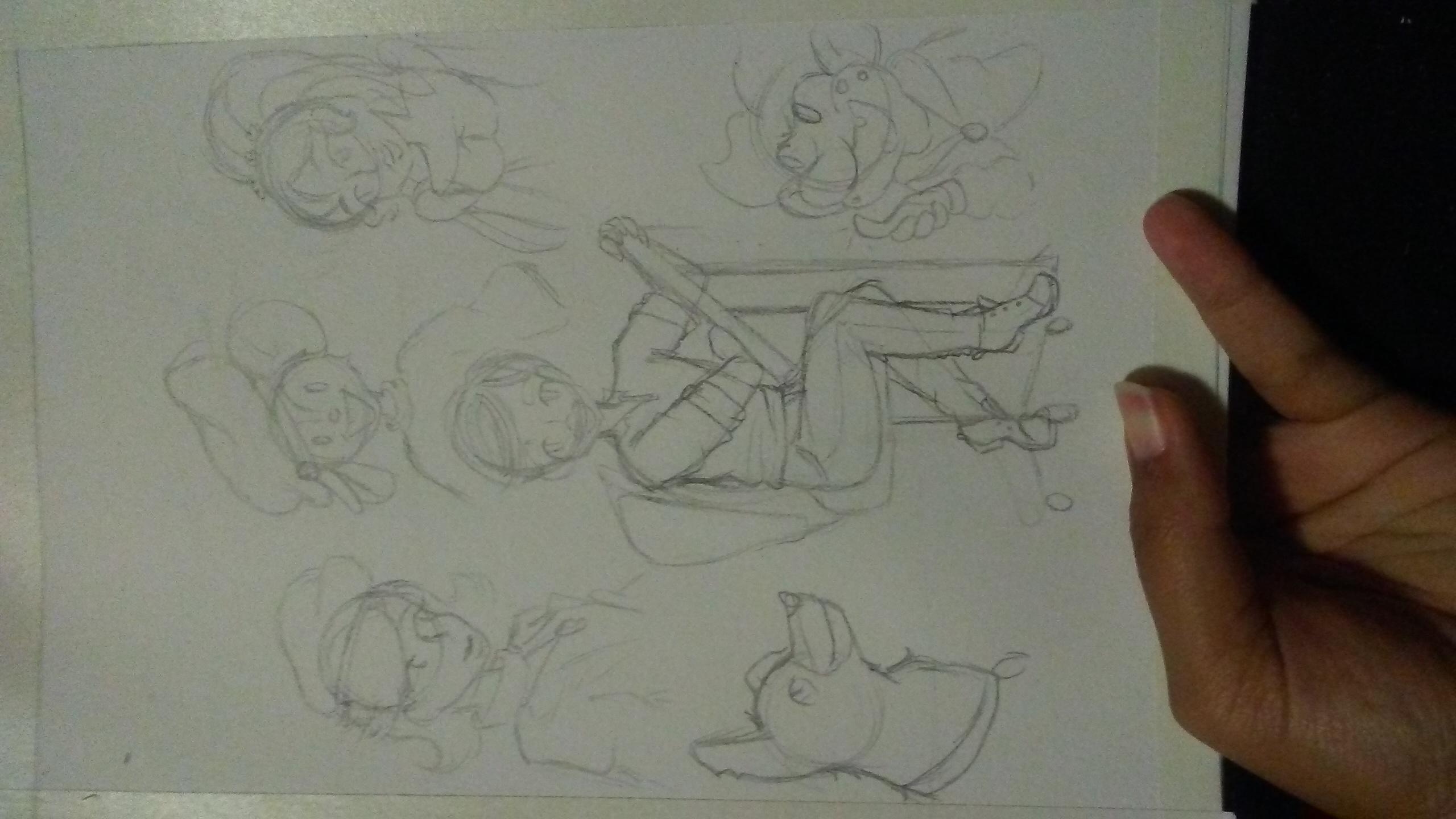 Progress Sketch Tale Tellers