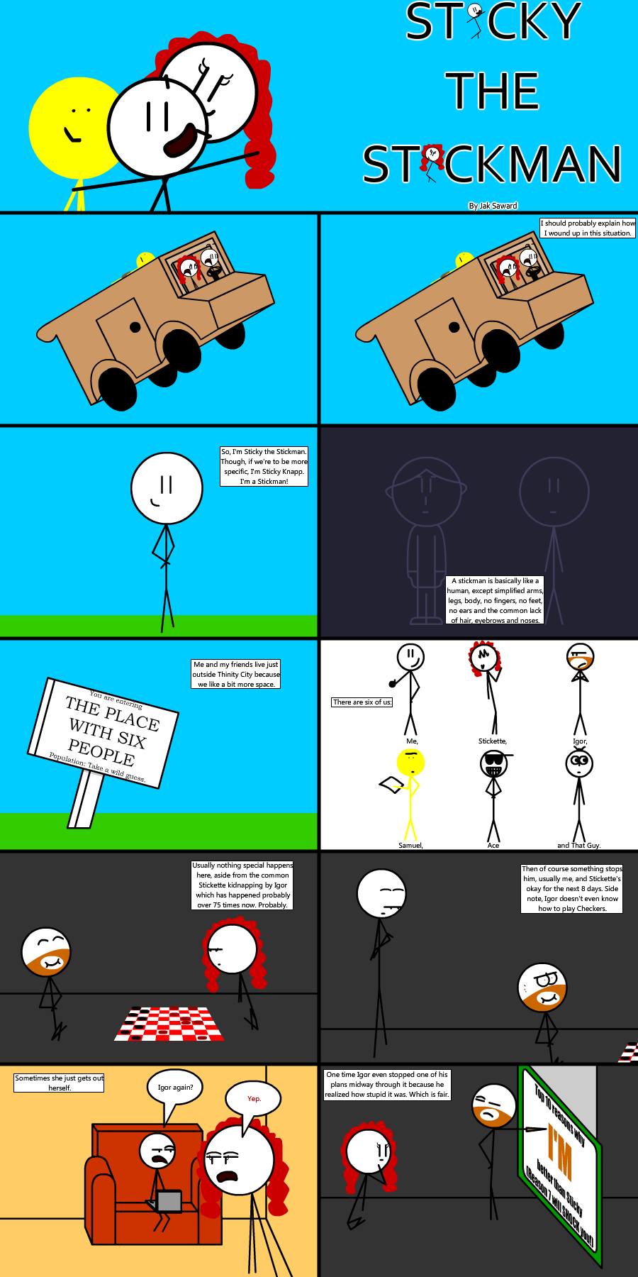 Sticky the Stickman - Comic 4