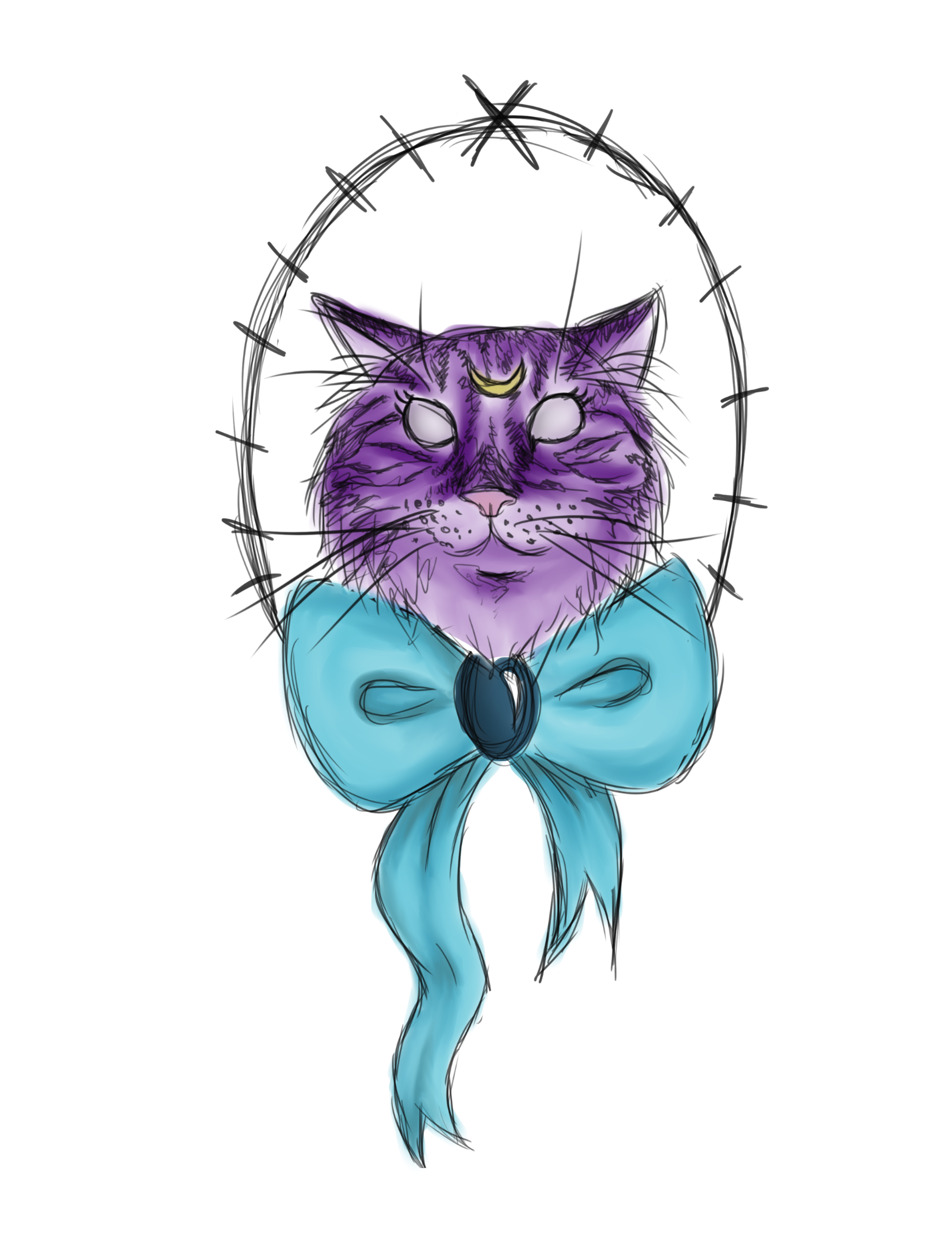 Tattoo design of Luna from Sailor Moon