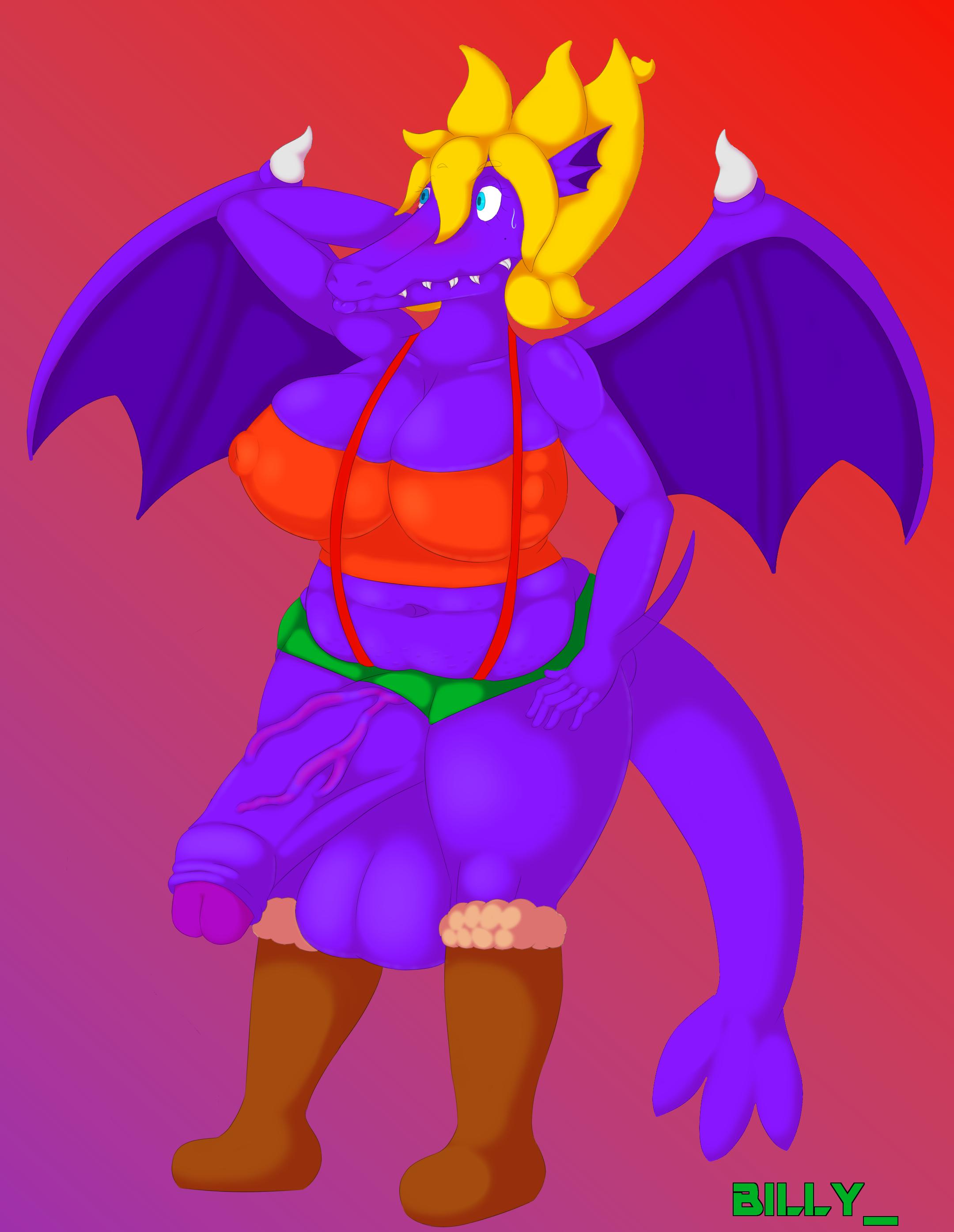 Dragon with Feminine Penis