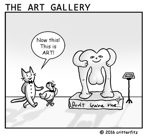 The Art Gallery: Don't Leave Me...