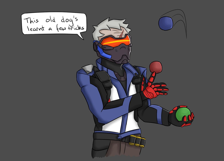 Soldier 76 juggling