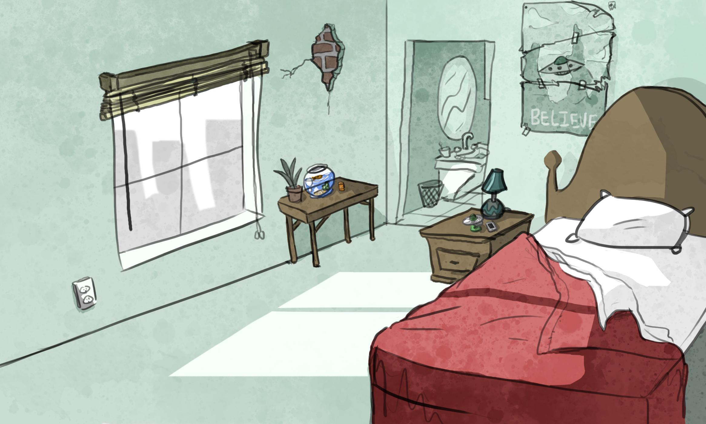 BACKGROUND ART Bedroom