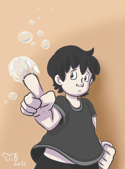 Shade pops bubbles