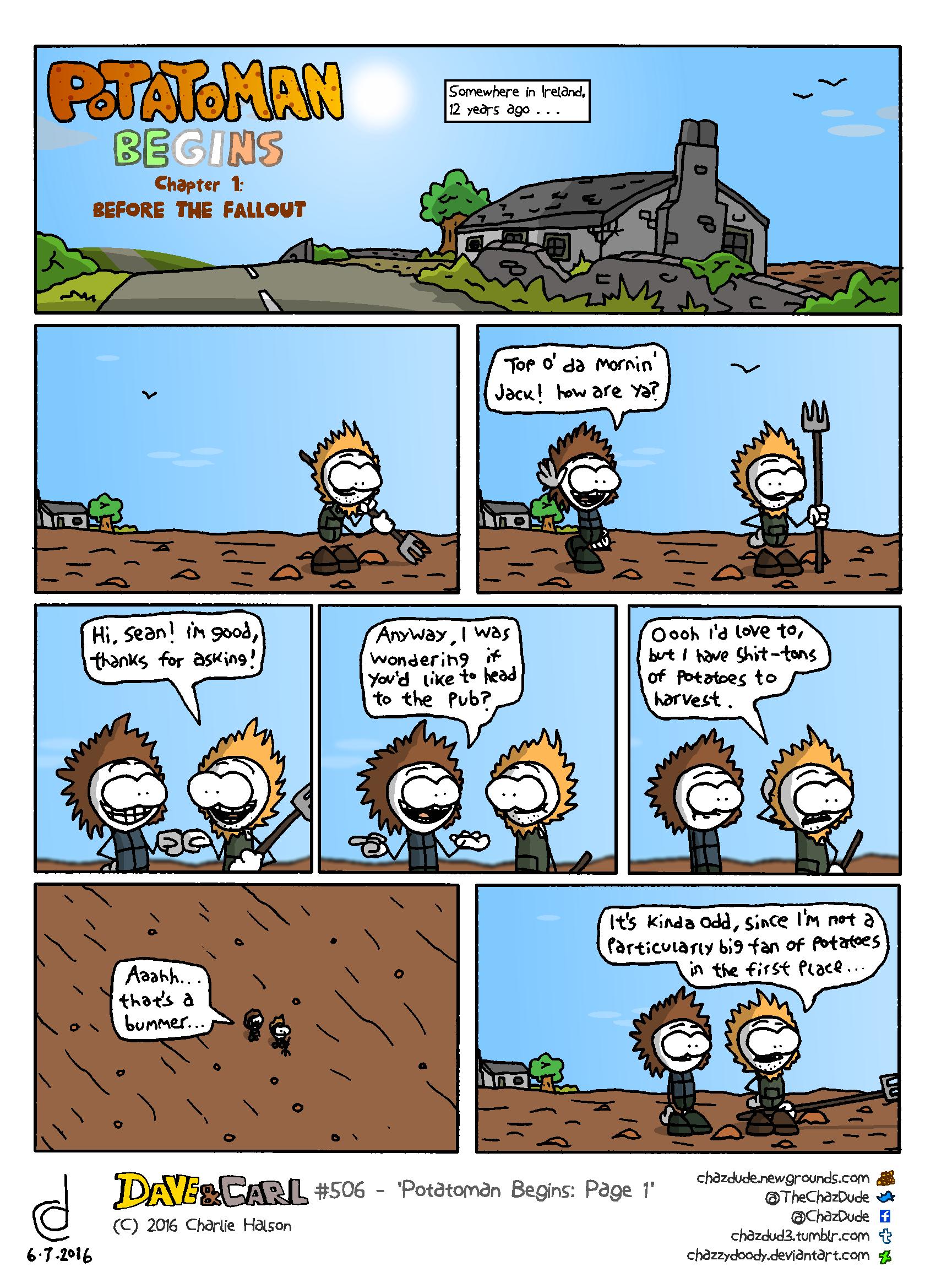 Potatoman Begins: Page 1
