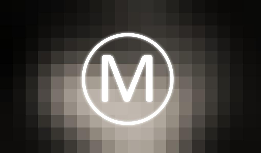 letter m logo wallpaper by ixploit on newgrounds