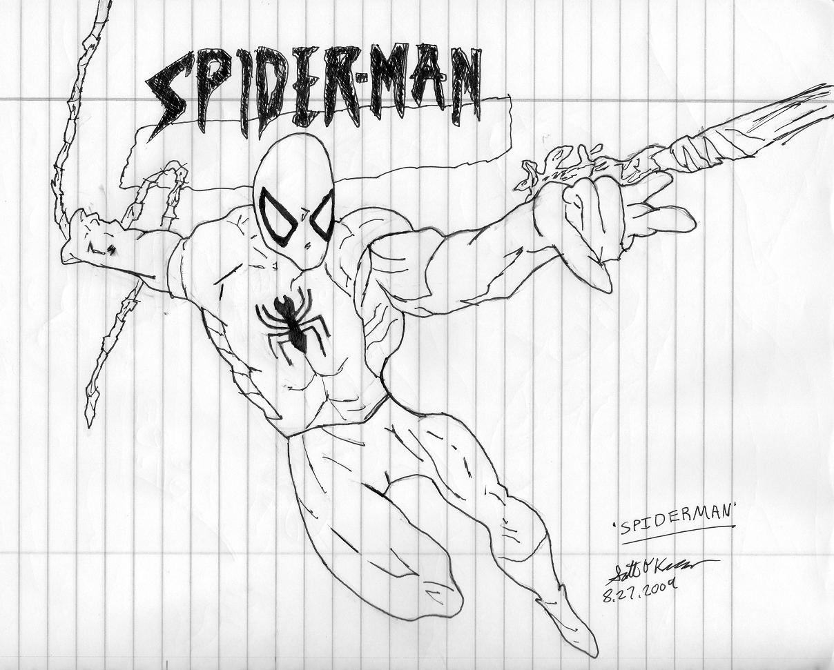 Spiderman freehand