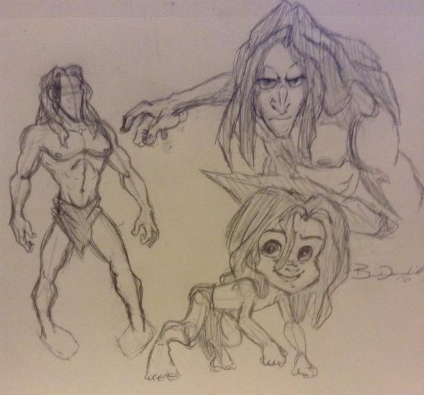 Disney's Tarzan Sketches