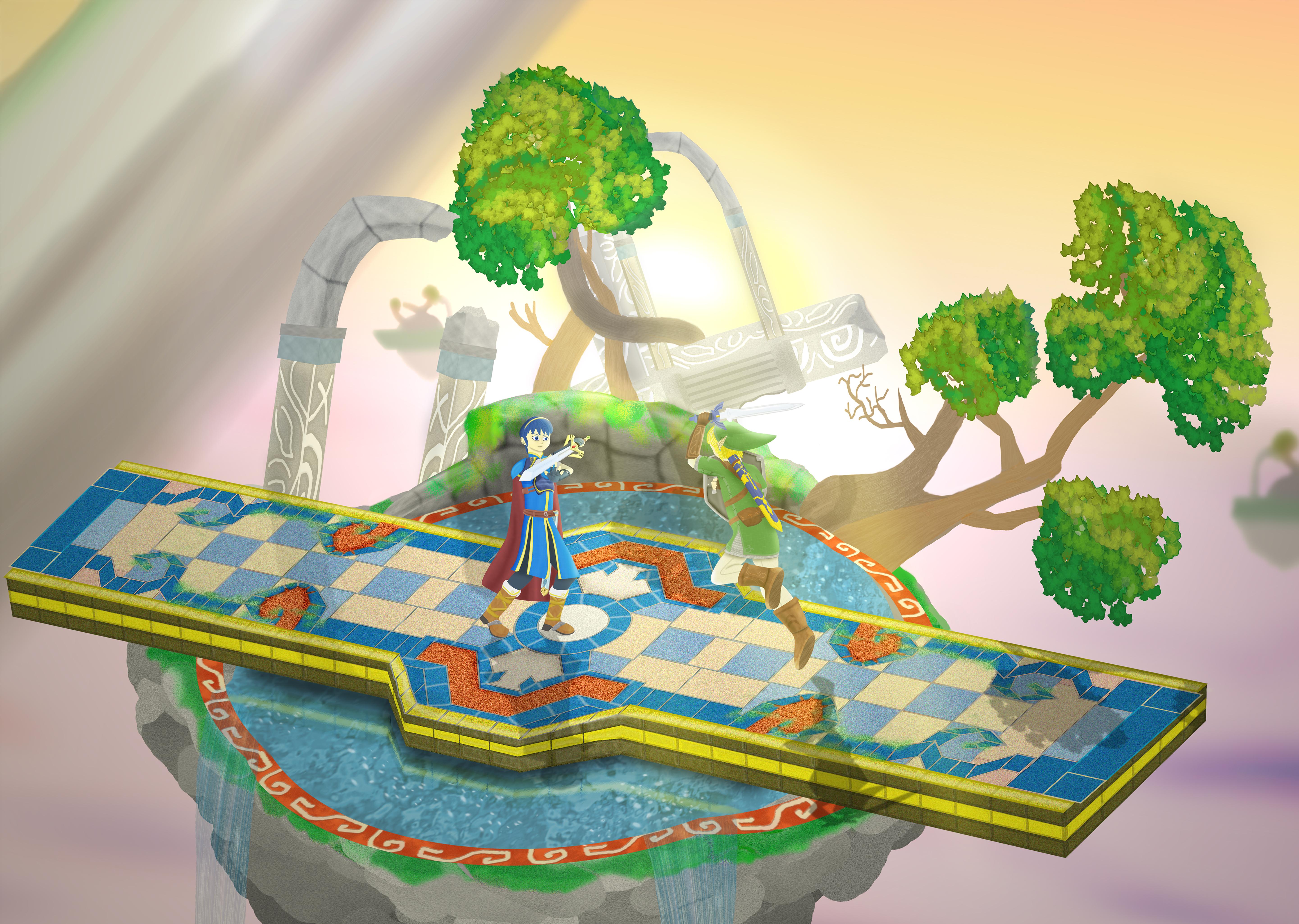 Link vs. Marth (Smash Bros.)