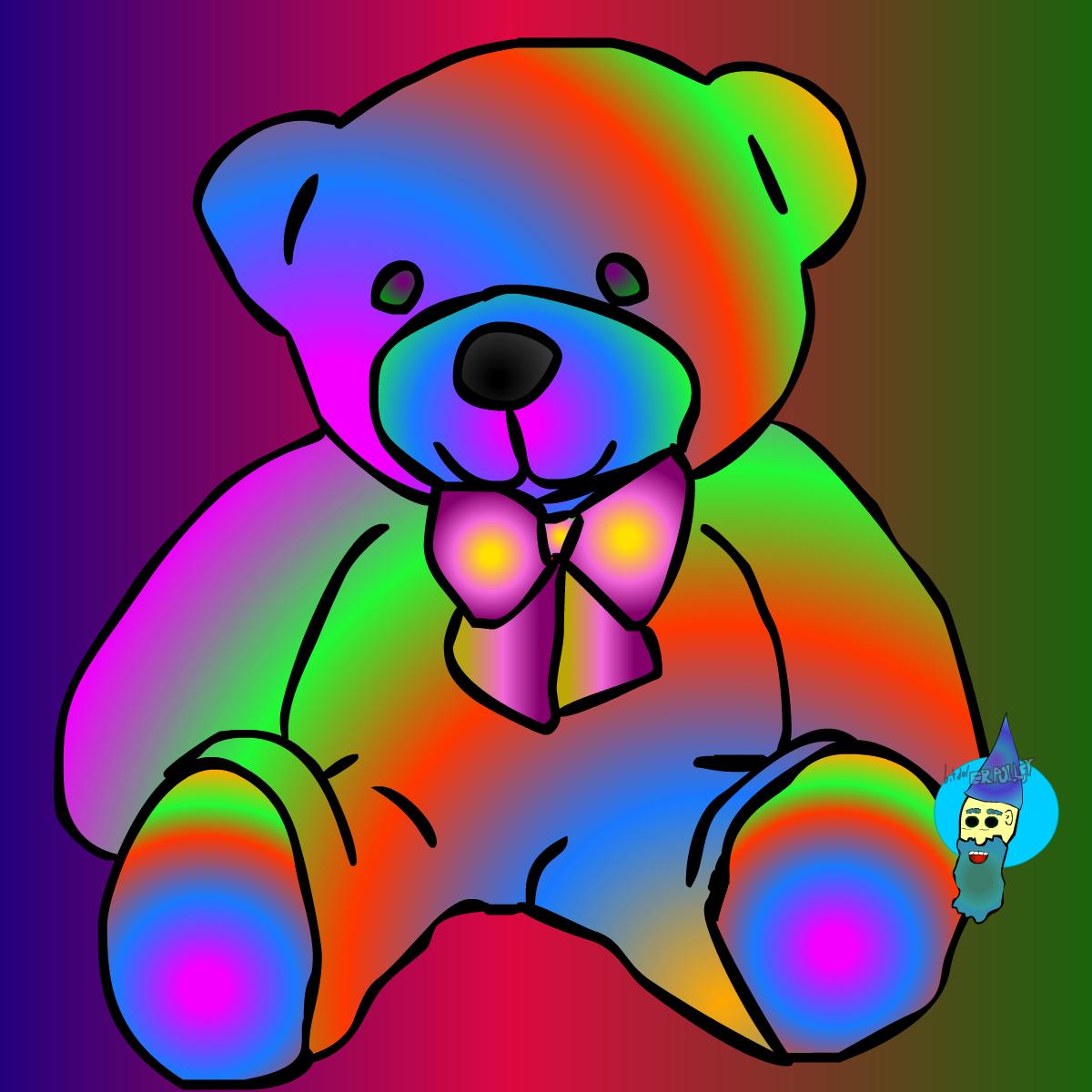 psychedelic teddy