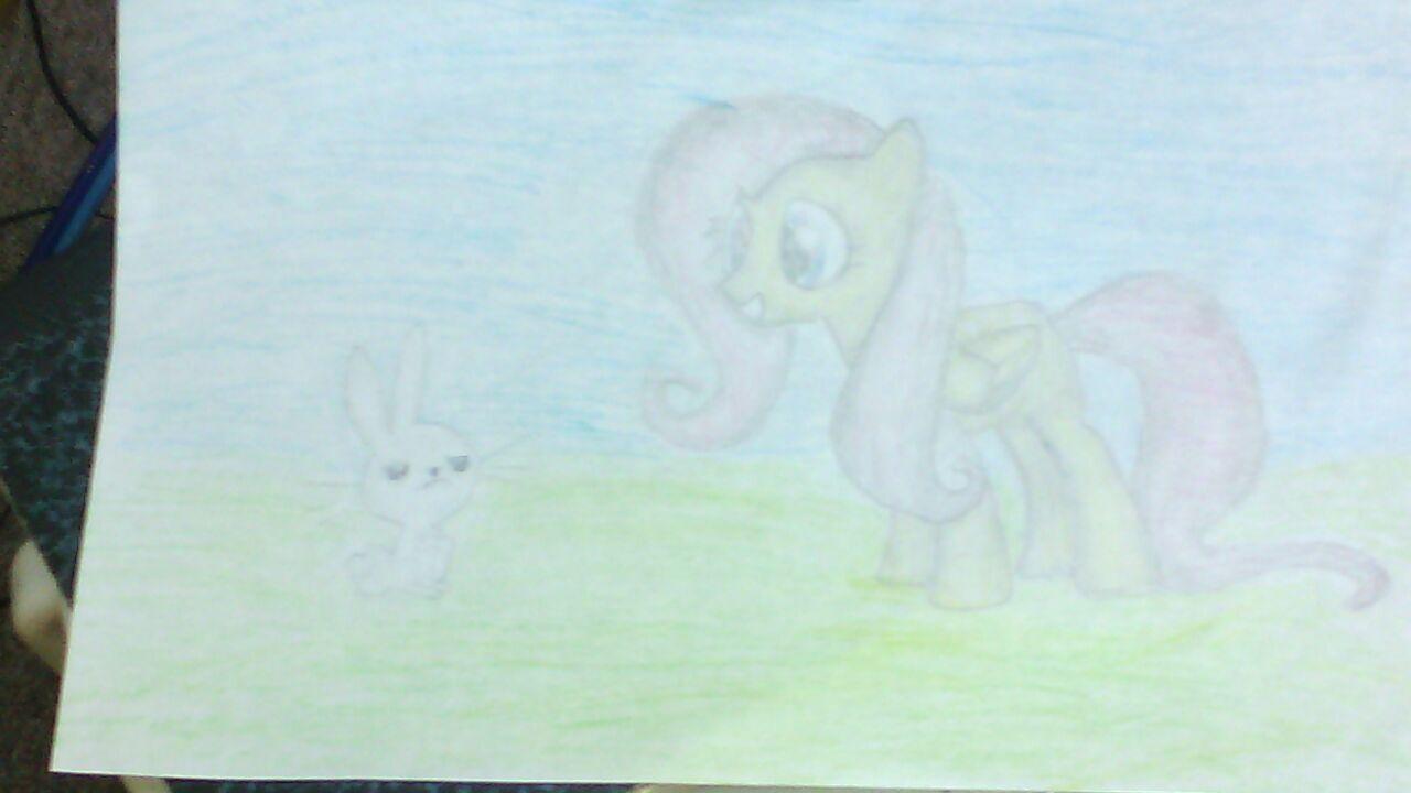 Fluttershy + Angel Bunny