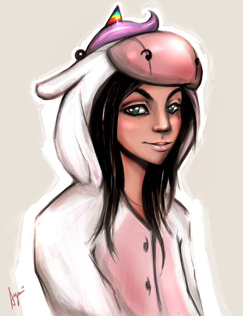 girl in unicorn