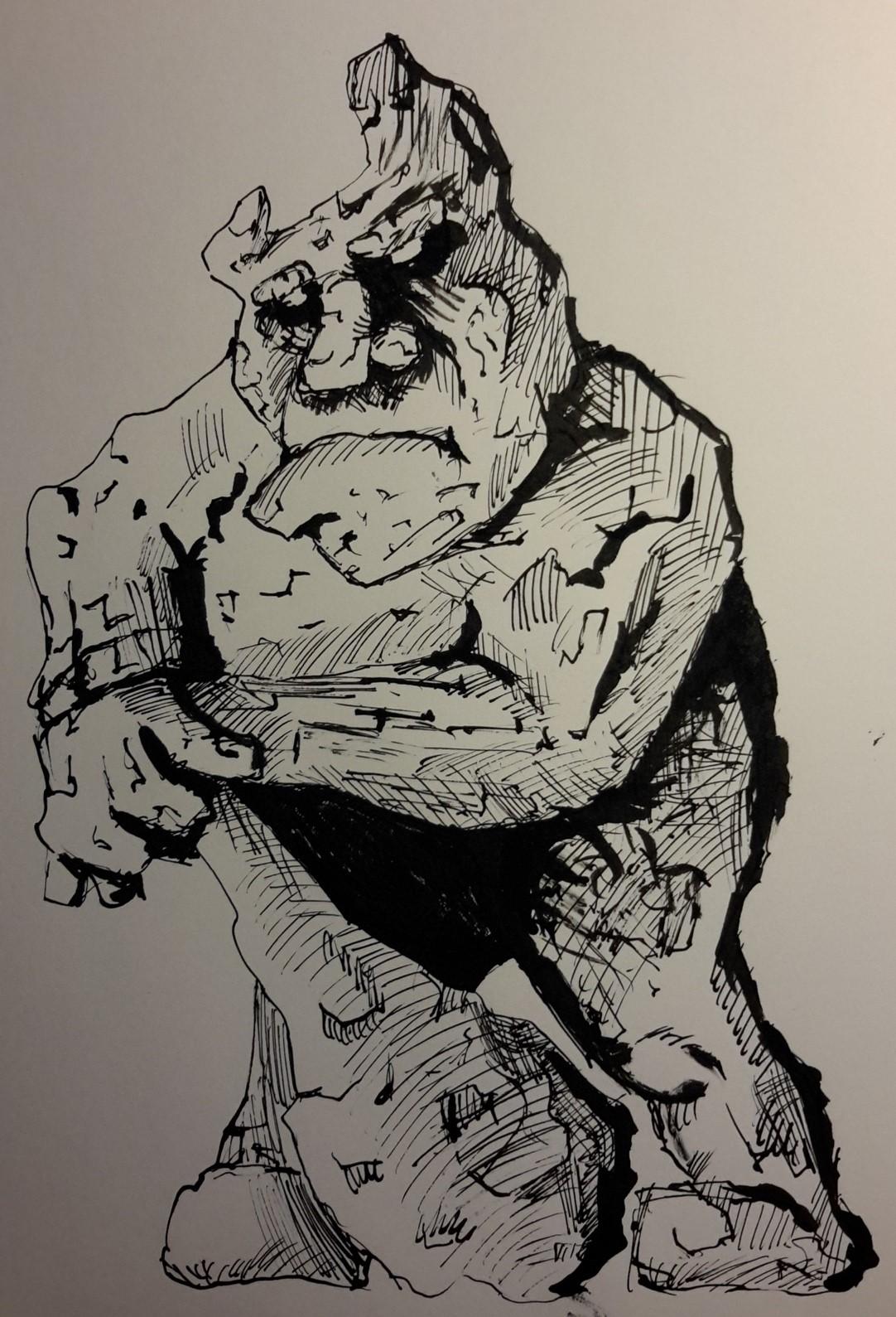 Inktober#3 Stone giant